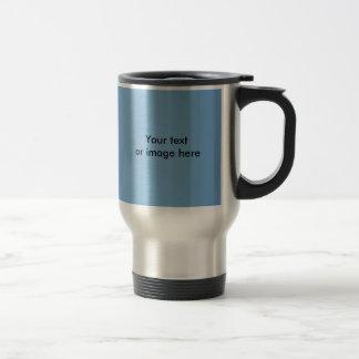 Clear blue sky photo template travel mug