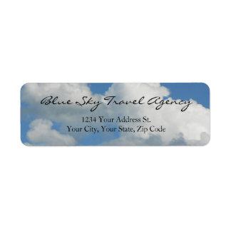 Clear Blue Sky Return Address Label