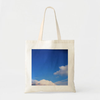 Clear Blue Sky & White Clouds Budget Tote Bag