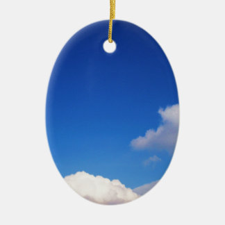Clear Blue Sky & White Clouds Christmas Ornament