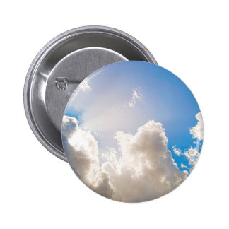 Clear Blue Sunburst 6 Cm Round Badge