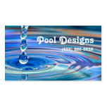 Clear Blue Water Drops Flowing Pool Design