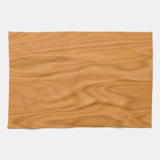 Clear brown wood background tea towel