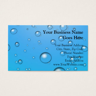 Clear Bubbles, Blue Water Business Card