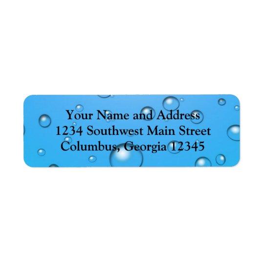 Clear Bubbles, Blue Water Return Address Label