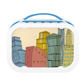 Clear Buildings Lunch Box