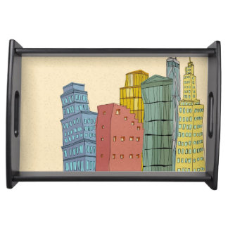 Clear Buildings Serving Tray