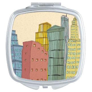 Clear Buildings Vanity Mirror