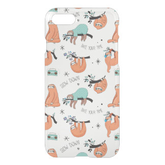 Clear Case Cute Sloth Pattern
