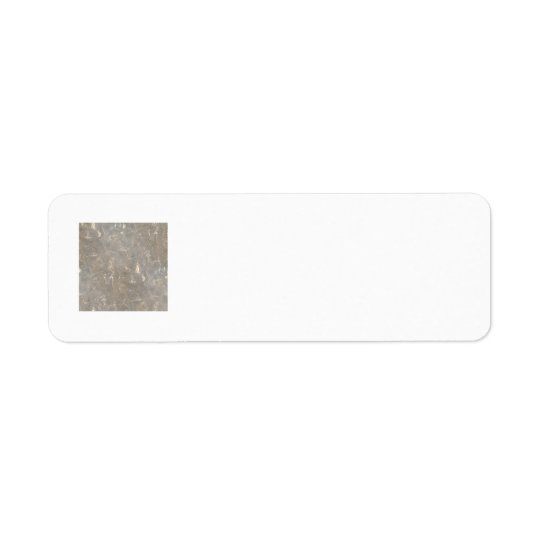 Clear cellophane picture pattern return address label