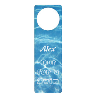 Clear Cool Blue Aquatic Pool Water Hearts Swimming Door Knob Hangers