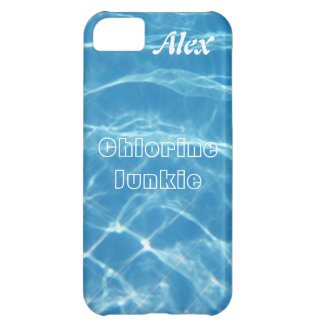 Clear Cool Blue Aquatic Pool Water Swimming iPhone 5C Case