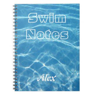 Clear Cool Blue Aquatic Pool Water Swimming Notebook