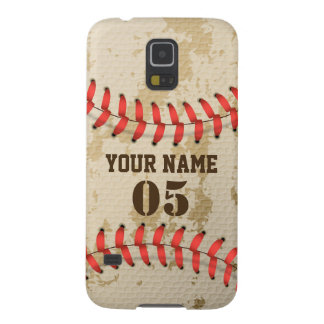 Clear Cool Vintage Baseball Galaxy S5 Covers