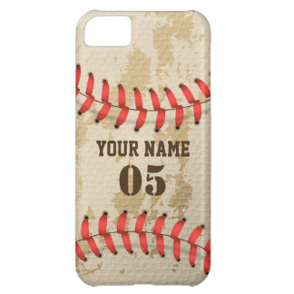 Clear Cool Vintage Baseball iPhone 5C Case