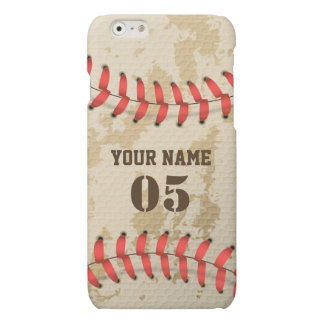Clear Cool Vintage Baseball iPhone 6 Plus Case