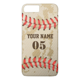 Clear Cool Vintage Baseball iPhone 8 Plus/7 Plus Case