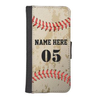 Clear Cool Vintage Baseball iPhone SE/5/5s Wallet Case