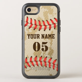 Clear Cool Vintage Baseball OtterBox Symmetry iPhone 8/7 Case