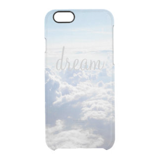 Clear Dream big inspirational quote motivational Clear iPhone 6/6S Case