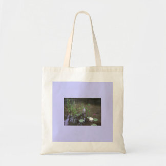 Clear, Fresh Ponds, Small,Tiny,  Water Plants Budget Tote Bag