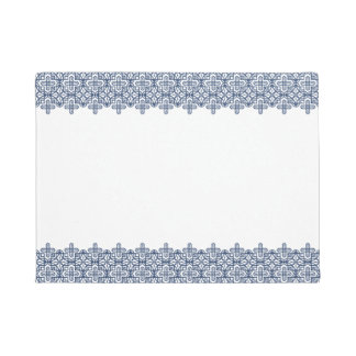 Clear geometric pattern blue doormat B of the line