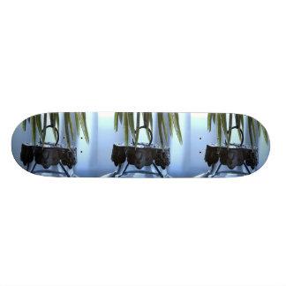 Clear Glass Christmas Ornament Skateboard