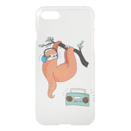 Clear iPhone Case Cute Sloth