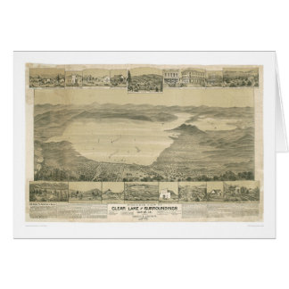Clear Lake, CA. Panoramic Map (0289A) Card