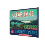 Clear Lake Pear Crate LabelLake County, CA Canvas Print