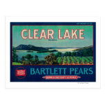 Clear Lake Pear Crate LabelLake County, CA Postcard