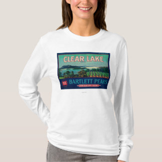Clear Lake Pear Crate LabelLake County, CA T-Shirt