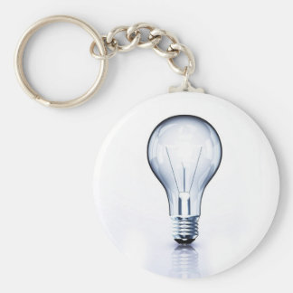 clear light bulb basic round button key ring