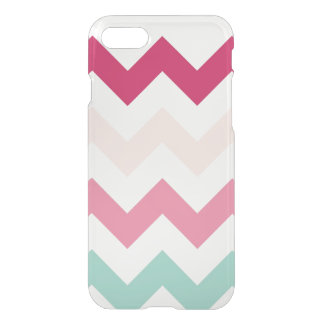 Clear pastel chevron zigzag zig zag pattern chic iPhone 8/7 case