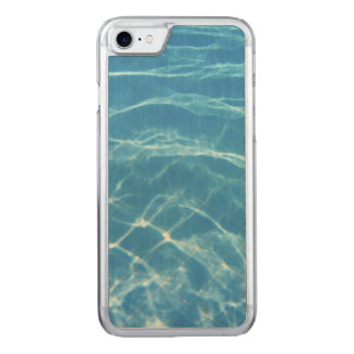 Clear, Turquoise Water Carved iPhone 8/7 Case