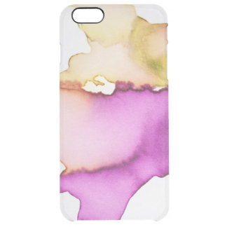 Clear watercolor ikat hipster neon purple yellow clear iPhone 6 plus case