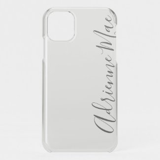 Clear White Satin Mist Personalized iPhone 11 Case