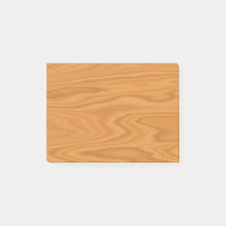 Clear wood post-it notes