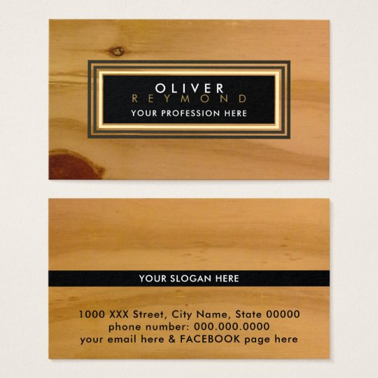 clear wood texture modern classic professional business card
