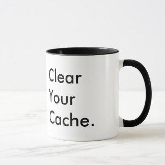Clear Your Cache | Tech Humour | Company Logo Mug