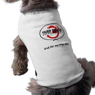 clearbackground, bred for my ninja skills sleeveless dog shirt