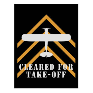 Cleared For Take Off Postcard
