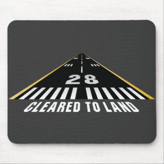 Cleared To Land Runway Mousepads