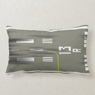 Cleared to Land Runway Pillow, JFK 13/31 Lumbar Cushion