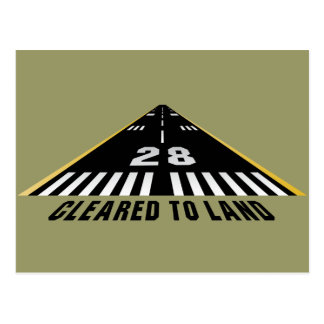 Cleared To Land Runway Postcards