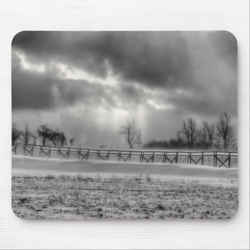Clearing Snow Storm Mousepad