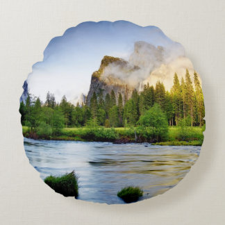 Clearing Storm Round Cushion