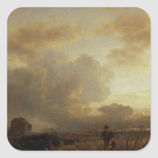 Clearing Thunderstorm in the Countryside, 1857 Square Sticker