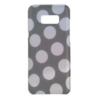 Clearly black and white polka dots! uncommon samsung galaxy s8 plus case