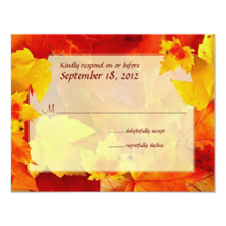 Clearly Fall Border Response Cards 11 Cm X 14 Cm Invitation Card